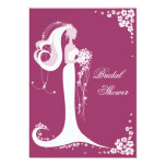 "Elegant Bride Bridal Shower Party Announcement 5"" X 7"" Invitation Card"