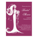 Elegant Bride Bridal Shower Party Invitation 3 Postcard