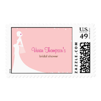 Elegant Bride Custom Postage Stamp - Pink Postage Stamp