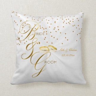 Elegant Bride & Groom Keepsake | Personalize Throw Pillow
