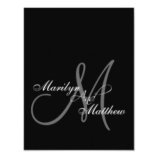 Elegant Bride Groom Monogram Rehearsal Dinner Card