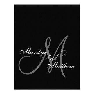Elegant Bride Groom Monogram Rehearsal Dinner Personalized Invitation