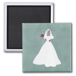 Elegant Bride Refrigerator Magnets
