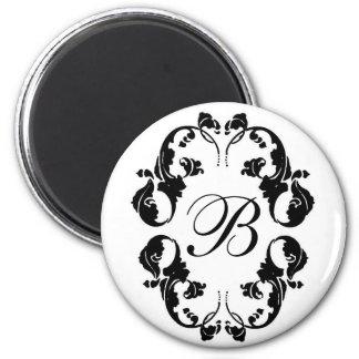 Elegant Bride Monogram 2 Inch Round Magnet