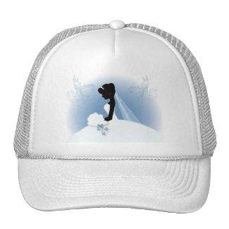 Elegant Bride Silhouette Wedding Favor Trucker Hat