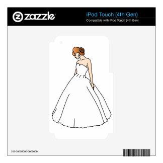 Elegant Bride Skins For iPod Touch 4G