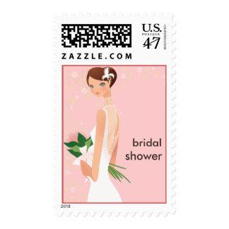 Elegant Bride Wedding Shower Postage