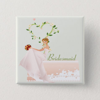Elegant Bridesmaid Button