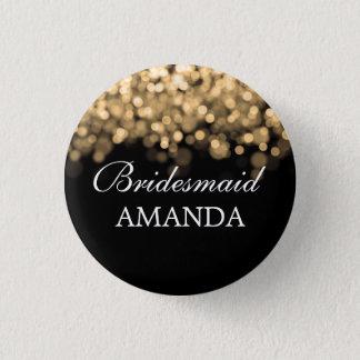 Elegant Bridesmaid Favor Gold Lights Button