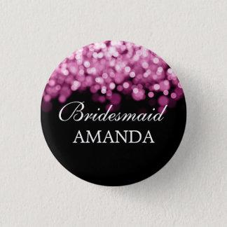 Elegant Bridesmaid Favor Pink Lights Pinback Button