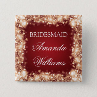 Elegant Bridesmaid Favor Sparkling Lights Gold Button