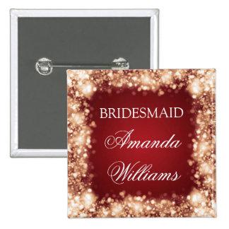 Elegant Bridesmaid Favor Sparkling Lights Gold Button