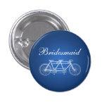 Elegant Bridesmaid Favor Tandem Bike Blue Pins