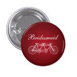 Elegant Bridesmaid Favor Tandem Bike Red Button