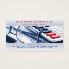 Elegant Bright Accounting Business Card at Zazzle