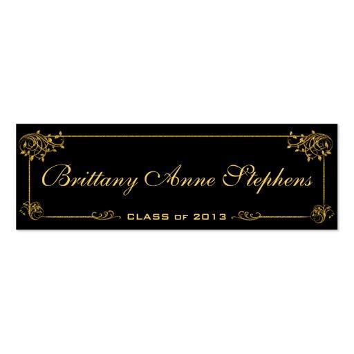 graduation name card insert business card templates bizcardstudio