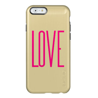 Elegant Bright Pink Love Incipio Feather Shine iPhone 6 Case
