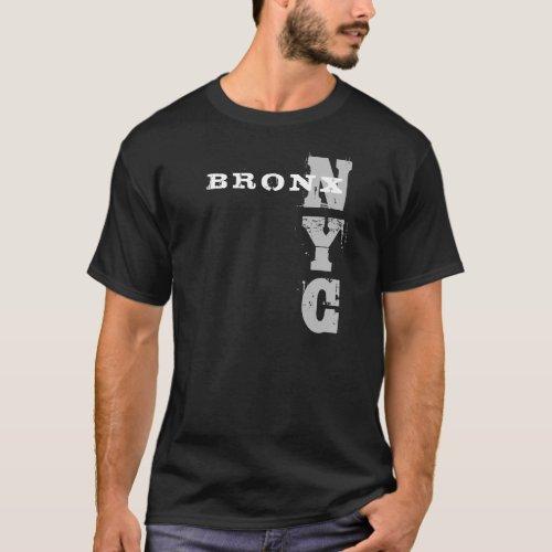 Elegant Bronx Nyc Text Black Creative Design T_Shirt