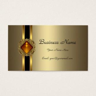 Elegant Bronze Gold Black Amber jewel Business Card