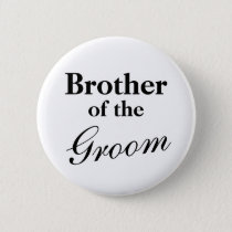 Elegant brother of the groom buttons