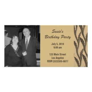 elegant brown branches Birthday Card