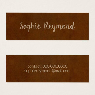 elegant brown business card with script name