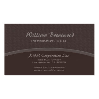 elegant brown curve business card
