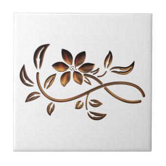 Elegant Brown Flower Ceramic Tiles