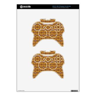 Elegant Brown Geometric Design Xbox 360 Controller Skins