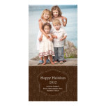 Elegant Brown Holiday Photo card