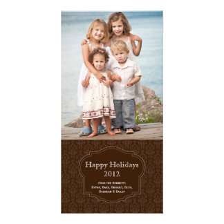 Elegant Brown Holiday Photo card