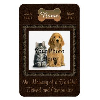 Elegant Brown In Memory of Cat or Dog Magnet
