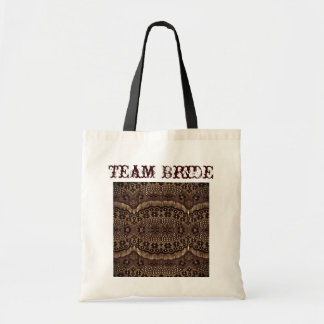 elegant brown lace country wedding canvas bags