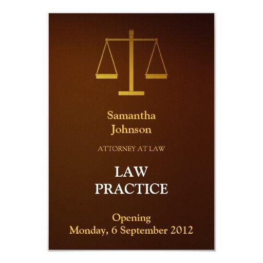 Elegant Brown Law Practice Opening Announcement
