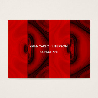 Elegant Brown Red Minimalist Professional Classy Business Card