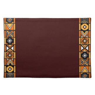 Elegant Brown Safari African Art Placemat