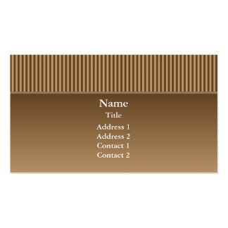 Elegant Brown with Stripes Double-Sided Standard Business Cards (Pack Of 100)