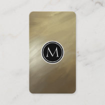 Elegant Brush Stroke Gold Business Card