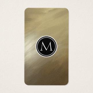 Elegant Brush Stroke Gold Business Card