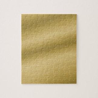 Elegant Brushed Gold Jigsaw Puzzle