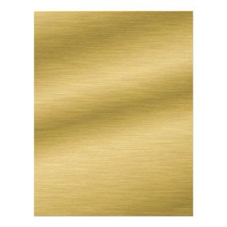 Elegant Brushed Gold Letterhead