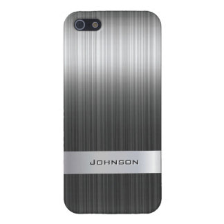 Elegant Brushed Steel Metal with Silver Bar | iPhone 5 Cover