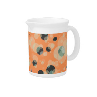 Elegant Bubbles Pattern on any Color Pitcher