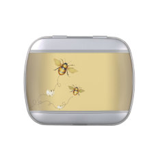 Elegant Bumble Bee Baby Shower Candy Jelly Belly Candy Tins at Zazzle