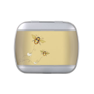 Elegant Bumble Bee Baby Shower Candy Jelly Belly Candy Tins