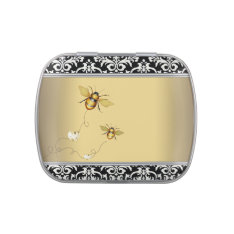Elegant Bumble Bee Baby Shower Candy Jelly Belly Tin at Zazzle