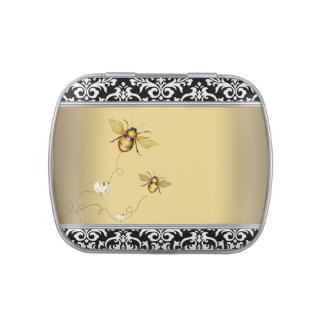 Elegant Bumble Bee Baby Shower Candy Jelly Belly Tin
