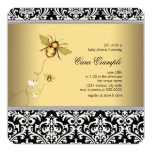 Elegant Bumble Bee Baby Shower Invitation