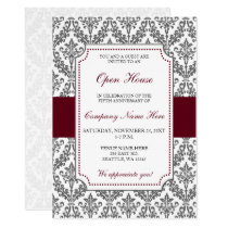 Elegant Burgundy Corporate party Invitation