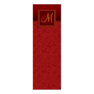 Elegant Burgundy Crackle Finish Bookmark Business Card